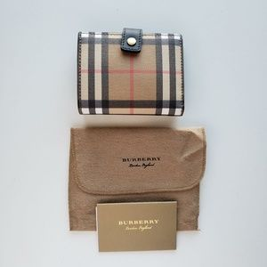 Burberry Small Vintage Check Folding Wallet- Beige
